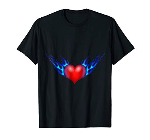 (Wicked Wonders Winged Flaming Heart T-Shirt)