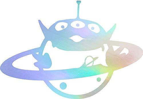 NBFU DECALS Alien Toy Story 2 (Hologram) (Set of 2) Premium Waterproof Vinyl Decal Stickers for Laptop Phone Accessory Helmet CAR Window Bumper Mug Tuber Cup Door Wall Decoration -