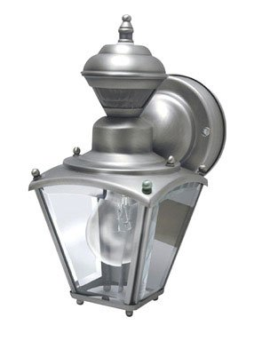 Heathco SL-4131-SC Silver Pewter Solid Brass Motion Activated Lantern
