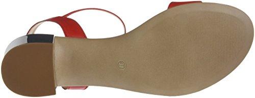 JONAK Women's VIO Open Toe Sandals Red (Rouge 009) 7Mmk7