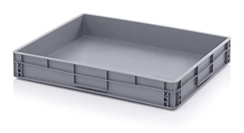 45/litre 80/x 60/x 12/cm Euro empilage Bo/îtes de bo/îtes de rangement en plastique r/ésistant aux caisses Gris 800/x 600/x 120/mm