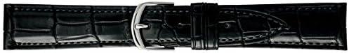 [バンビ] 腕時計 時計バンド クロコダイル 19mm BWA019AR ブラック