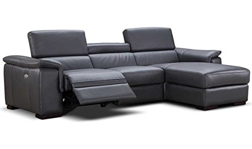 (Allegra Premium Leather Sectional Right Facing Chaise)