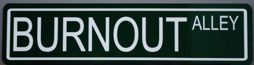 Motown Automotive Design METAL STREET SIGN BURNOUT ALLEY