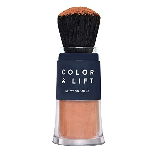 Color & Lift with Thickening Powder - Available in 8 Hair Colors - Root Cover Up - Temporary Hair Coloring Brush that Refreshes Hair - Red