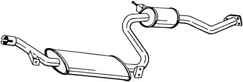 Mittelschalld/ämpfer mitte 1220-13434 D/ämpfer Abgasanlage