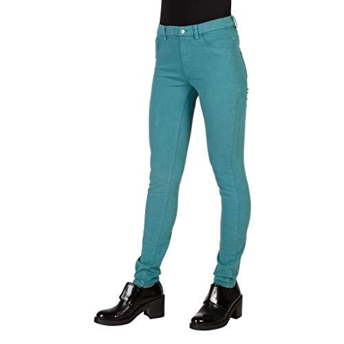 Para Jeans Mujer 796 Vaqueros Verde Carrera Skinny nHB44x