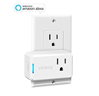 VIEWISE Smart Plug Mini, Wi-Fi Switch Outlet Socket, No Hub Required, Compatible with Alexa, Control your Devices from Anywhere, Mini Size, Amazon Echo Voice Control, Remote Control, UL Listed