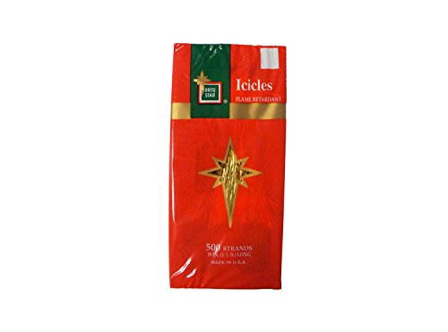 """LB International 500ct Gold Tinsel Icicle Strand Christmas Decorations 18"""""""