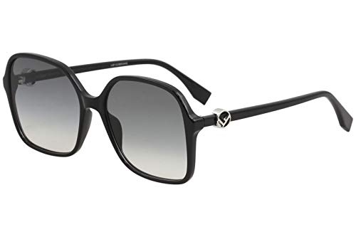(Sunglasses Fendi Ff 287 /S 0807 Black / 9O dark gray gradient)