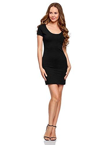 9d4343acd8 Ultra Oodji Negro Vestido Punto De Mujer 2900n Ajustado axwqxOTd