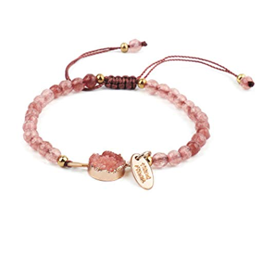 Artilady Shinning wrap Clasp Bangle for Women (Pink ()