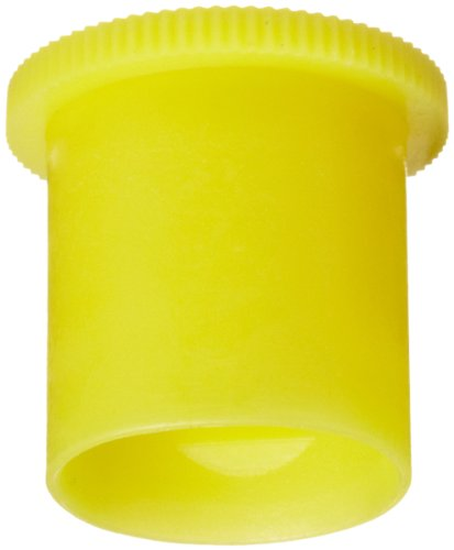 Kapsto 205 K 10 x 12 Ethylene Vinyl Acetate Protective Cap, Yellow, 10 mm Tube OD (Pack of 100)