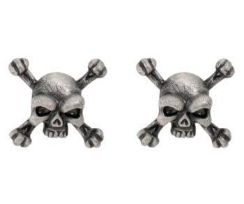 Skull Crossbones Studs - Collectible Dangle Jewelry Accessory Jewel Skull Crossbones Dangle