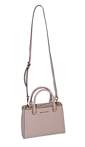MICHAEL Michael Kors Women's KELLEN XSMALL SATCHEL Leather Shoulder Handbags (BLOSSOM)