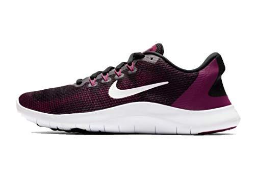Nike Women's Flex RN 2018 Running Shoe (7 M US, Black/White/True Berry/Burgundy Ash)