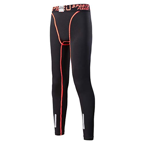 (Tesuwel 2/3/4/5 Pcs Boys Girls Athletic Compression Pants and Shirts Base Layer Thermal Underwear Set Running Tights Leggings )