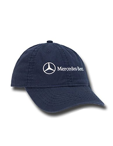 Price comparison product image Genuine Mercedes Lifestyle Collection Unstructured Navy Blue Cotton Cap