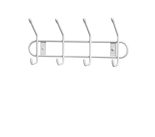 Spectrum Diversified Wall Hook Rack, 4 Hook, White (60400-24)
