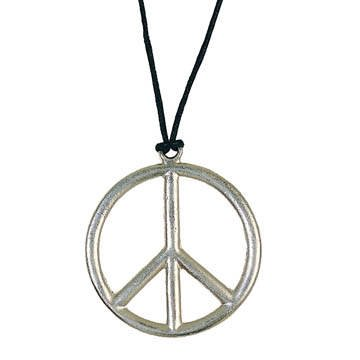 Kette Peace-Zeichen aus Metall, Ø 5cm PREISHIT Ø 5cm PREISHIT Party Discount