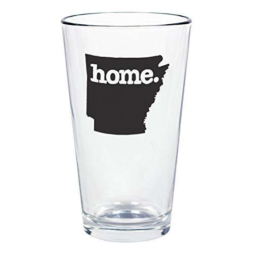 """Home State Apparel Set of 4 Arkansas""""home."""" Pint Glasses"""