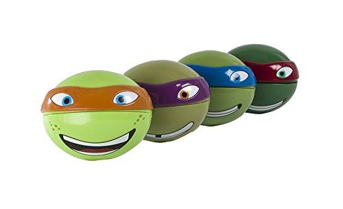 Evriholder Nickelodeon TMNT Snack-O-Sphere Lunch Box, Teenage Mutant Ninja Turtles Reusable Snack Containers, Assorted Set of 4