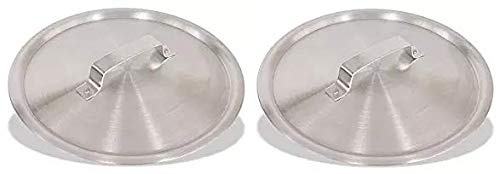 Crestware Frydc14 14'' Aluminum Fry Pan Dome Cover Extra Large Silver Metallic (2-(Pack))