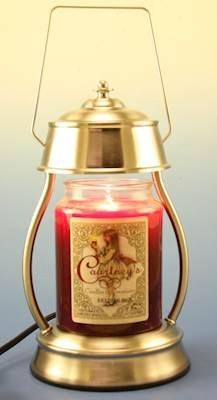 Hurricane Brushed Nickel Candle Warmer and Courtneys 26 oz Candle - Sandalwood Bergamot