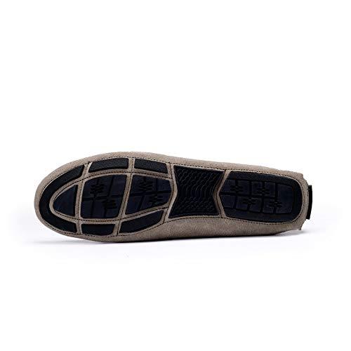 Guida Mocassini Cricket Pelle in Confortevole Scarpe da Vera Leisure da On Slip Shoes Mocassino Scamosciata Uomo Nero Vamp da qwSTXgrw8