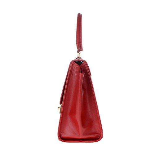 Dudu - Sac à main - Dollaro - Trapeze - Rouge lacca - Femme