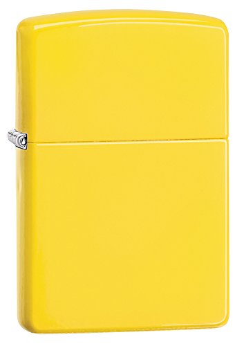 (Zippo Pocket Lighter, Lemon Matte)