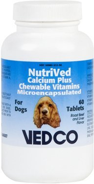 NutriVed Calcium Plus Chewable Vitamins For Dogs - 60 Tablets by Nutrived
