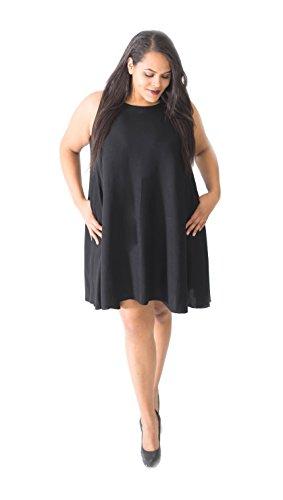 3cf01f5960df9 Beautybatik Sleeveless Plus Size Summer Sun Swing Dress with Pockets ...