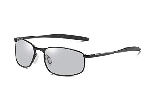 FEISEDY Classic Polarized Photochromic Sunglasses Driving Photosensitive Glasses ()