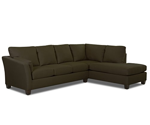 Klaussner E16 Drew Sectional Left Sofa/ Right Chaise, Thyme