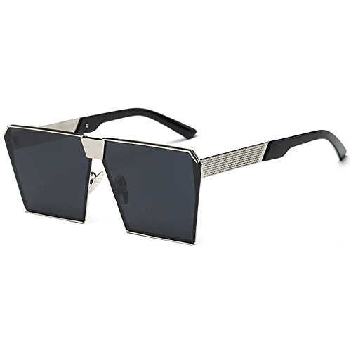 Sunglasses Street Silver Protection Special UV Square Glasses Sunglasses Frame Luxury Grey Sun Fashion Unisex Eyewear Women black Oversize Lens Men q6714wf
