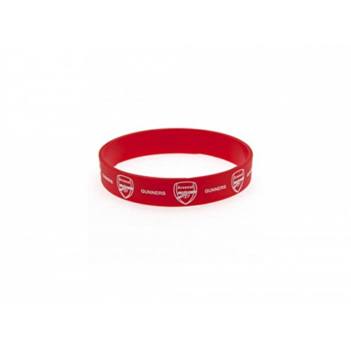 Arsenal FC Official Soccer Silicone Wristband (One Size) (Red/White)