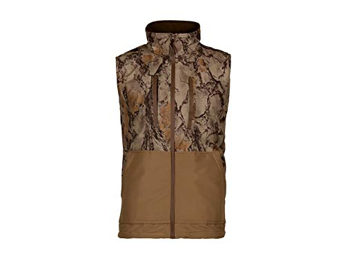 Natural Gear Camo Waterfowl Vest, Waterproof Hunting Vest for Women and Men with Fleece Lining, 100% Dri Stalk Material (Large) by Natural Gear