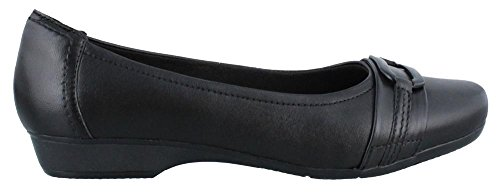 CLARKS Womens BLANCHE Round Toe Slide Flats, Black, Size 8