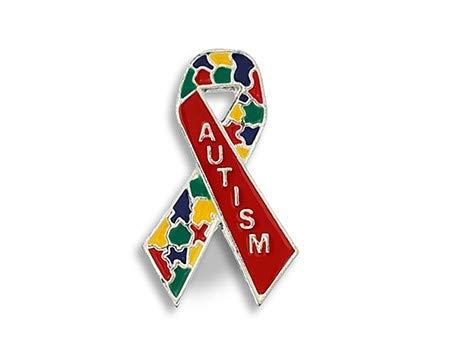 Awareness Ribbon Pin Autism - Multicolored