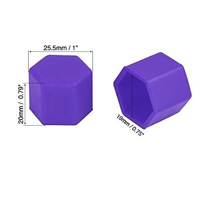 X AUTOHAUX 20pcs 19mm Universal Purple Silicone Car Wheel Nut Lug Hub Screw Rim Bolt Covers Dust Protection Tyres Screw Caps: Automotive