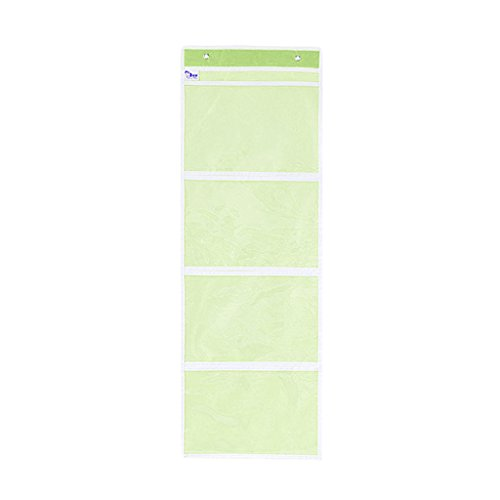 Oxford File Four Drawer (Homyl Hanging File Folder Holder Organizer Pocket - Nursery Room Kids Baby Books Drawing Picture Display Storage Bag - Green 4 Slots)