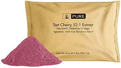 100 Pure Tart Cherry 52 1 Extract, 8 oz, 3000 mg Serving, 75 Servings, Non-GMO, Vegan, Gluten-Free, Made in USA, No Fillers or Additives, Lab-Verified, Eco-Friendly Packaging