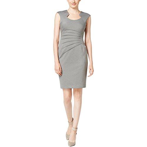 Starburst 12 Light (Calvin Klein Women's Sheath Dress With Ruching, Light/Grey, 12)