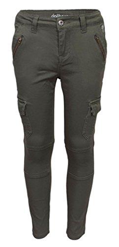'Dollhouse Girls Skinny Fit Cargo Jeans, Olive, Size 4' 4' Olive