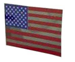 Flag Static Cling Decal - Americas & Americas USA Flag Static Cling Decal
