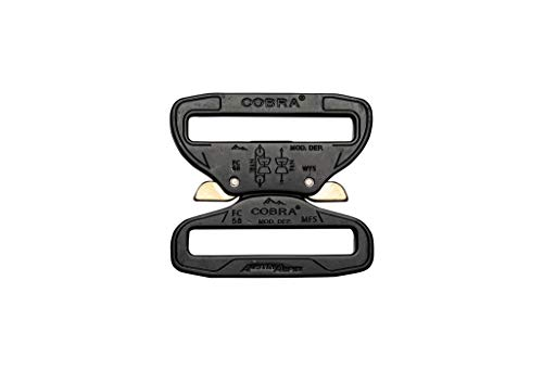 Klik Belts Belt Buckle - Heavy Duty Belt 2.25 Buckle - COBRA Quick Release Buckle Convertor - Replacement Buckle for Tactical Belt, Military Belt, Police Belt, Nylon Belt -Durable Belt Clip Wide
