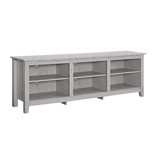 """WE Furniture 70"""" Wood Media TV Stand Console - White Wash from WE Furniture"""