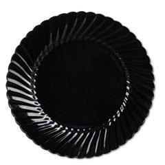 Classicware Plates, Plastic, 10.25 in, Black, 144/case by Reg