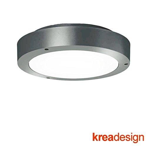 new style 21232 3ca59 kreadesign Ring 350 Grey External Wall or Ceiling Lamp IP65 ...